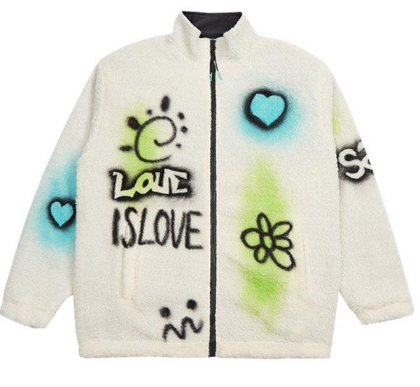 画像1: Ramfer graphic fleece jacket blouson  ユニセックス 男女兼用 ラムファーグラフィックフリースジャケット ブルゾン (1)