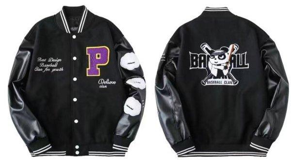 画像1: MLBNY  Woolen Baseball Uniform Jacket blouson  ユニセックス 男女兼用MLBNY  エンブレム  スタジアムジャンパー スタジャン MA-1 ボンバー ジャケット ブルゾン (1)