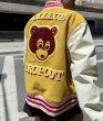 画像5: Casual Bear BASEBALL JACKET baseball uniform jacket blouson  ユニセックス 男女兼用 ベア 熊 刺繍 エンブレム  ヒップホップ スタジアムジャンパー スタジャン MA-1 ボンバー ジャケット ブルゾン (5)